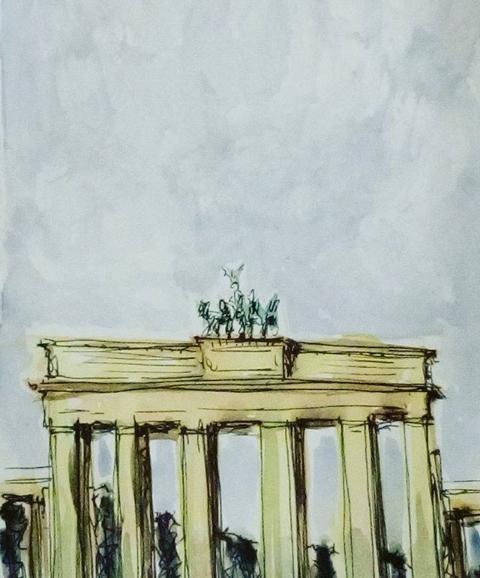 Berlín III, aguada s/papel