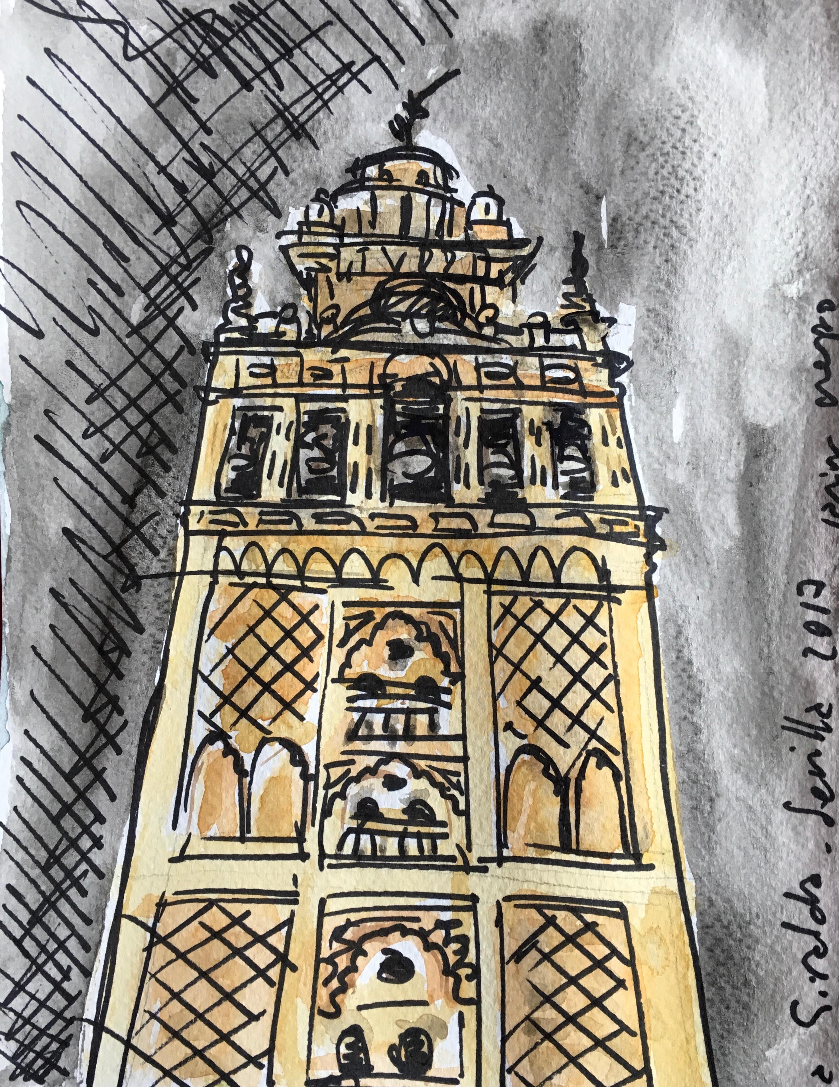 La Giralda, Sevilla, aguada y tinta