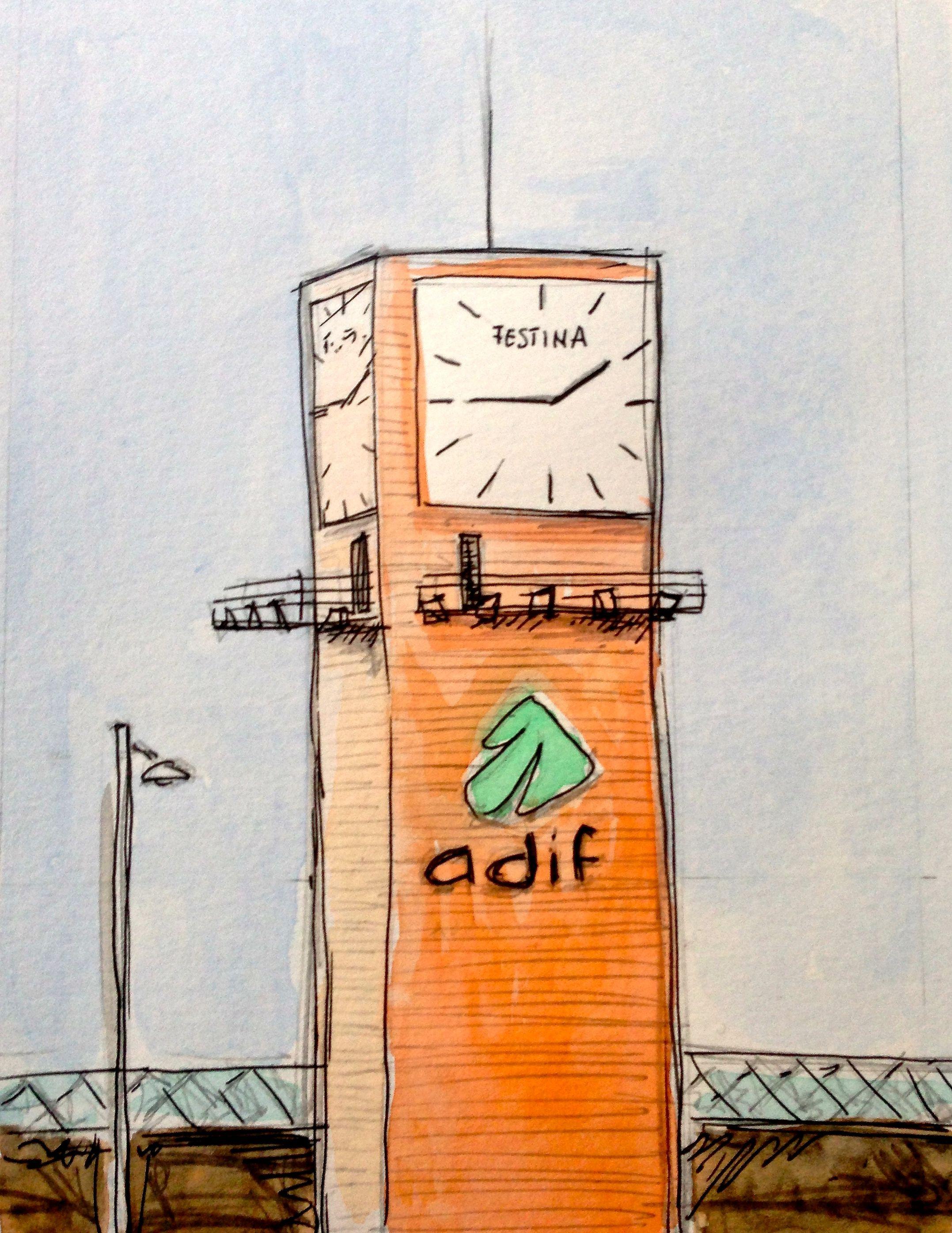ADIF (aguada s/papel)