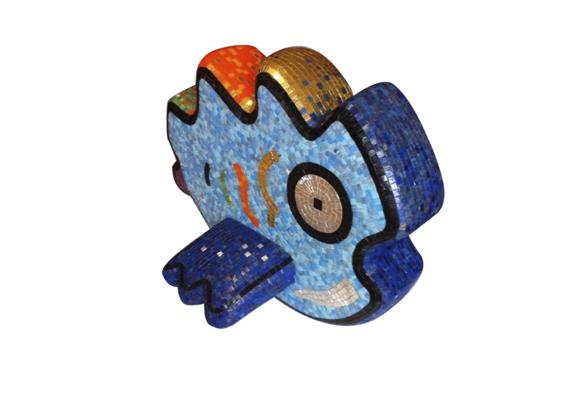 FISH . Escultura gresite vitrificado
