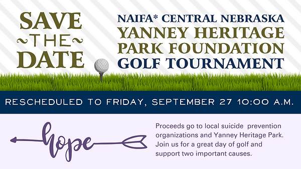 Updated Yanney Golf Tournament- new date