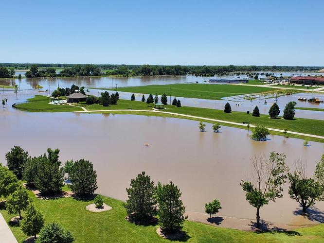 Flooding at Mitzi's Pavilion.
