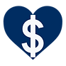 Heart with dollar sign