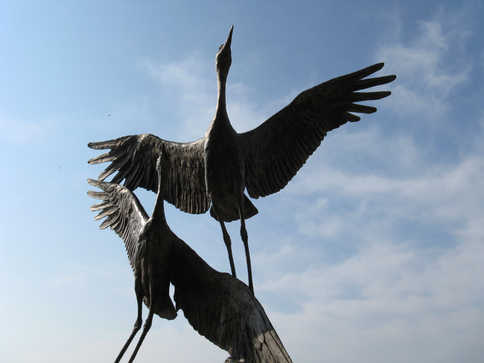 """Sandhill Cranes"" Sculpture"