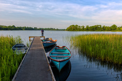 Fisherman at Upper Lough Erne, County Fermanagh