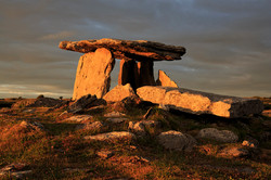 Evening Light at Poulnabrone Portal Tomb