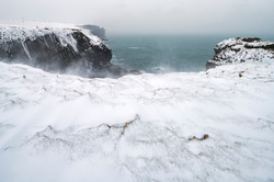 Blizzard at Loop Head, County Clare