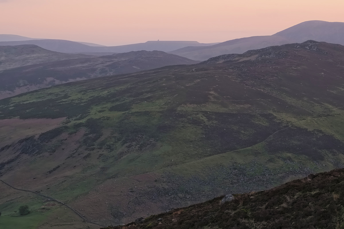 Wicklow Mountains at dusk