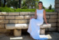 שמלת כלה בתפירה אישית צמודה עם שובל