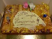 Gâteau pour le 500ème licencié en tennis de table en Aveyron, Vincent Galan