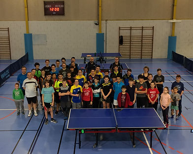 Stage départemental de tennis de table à Marcillac le 15 février 2017