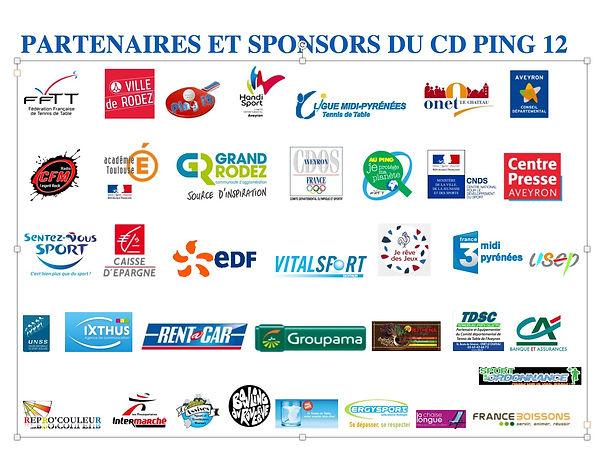 Partenaires et sponsors du tennis de table en Aveyron