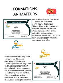Formation animateurs ping