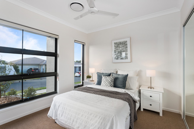 Bedroom 2 with Tinted Awning Windows