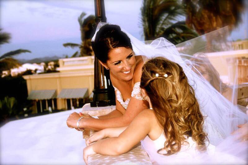 My beautiful SIL and her adorable well-behaved flower girl (my daughter). Mazatlan, Mexico.