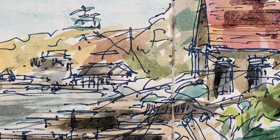 Totland Bay - Virtual Sketch Walk  - £9 (40% discount for Members)