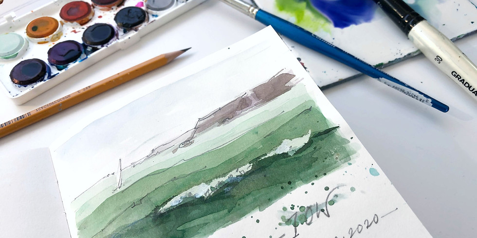 Simple seascapes; a sketch in watercolour - Live Online lesson