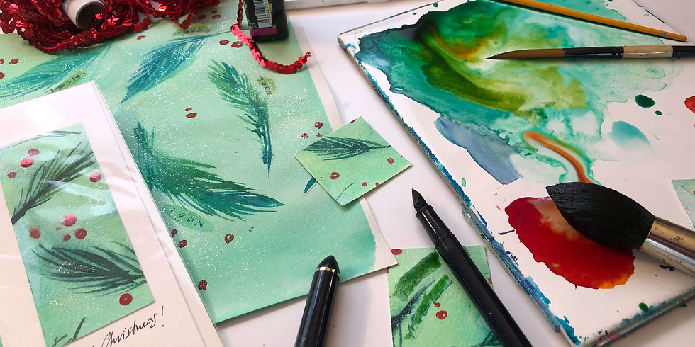 A Nordic Christmas Card  - live session with artist Julie Sajous