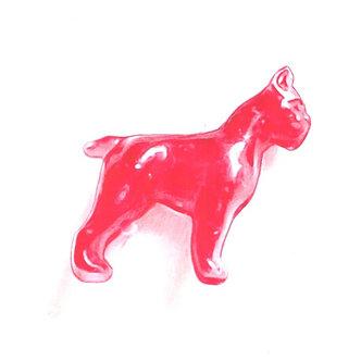 Red Dog Print
