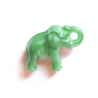 Green Elephant Print