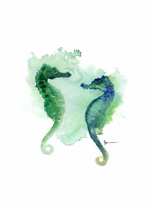 seahorses-watercolor-art-print-painting-