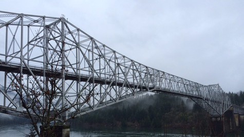 bridge of the gods, columbia river gorge, oregon