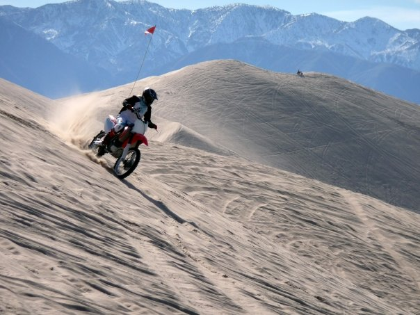 dirt biking dunes