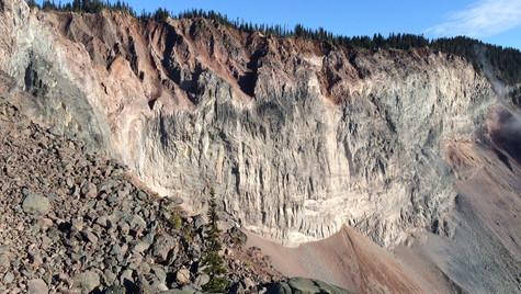 avalanche field near garibaldi lake, british columbia
