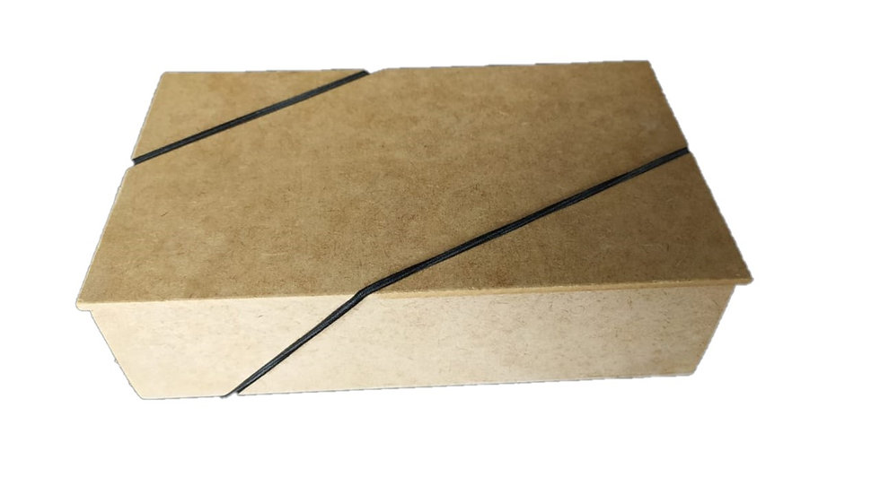 Caixa Tampa Reta com Elástico 21x12x5 cm.
