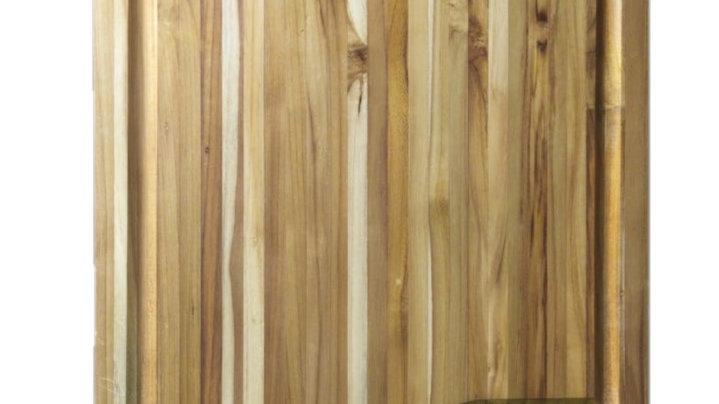 Tabua para churrasco em Teca com Gravação 35x25x1,8 cm.