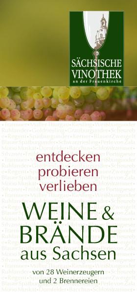 Imagefaltblatt Sächsische Vinothek Dresden