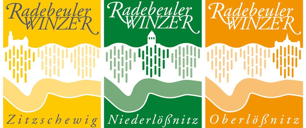 Wort-/Bildmarken Einzelmarken für die jeweilige Weinbaugemeinschaften in Radebeul