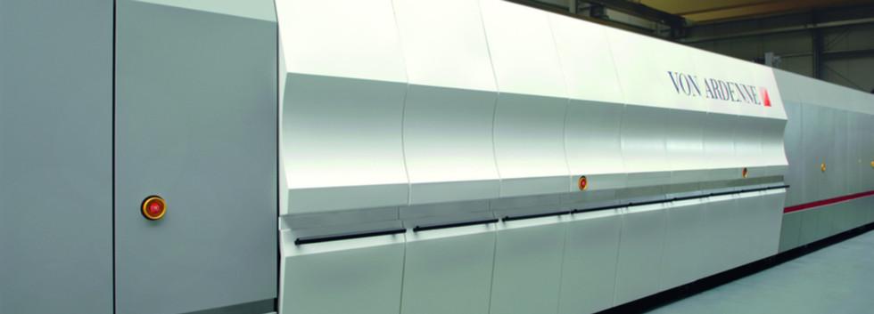 Vakuumbeschichtungsanlage für Architekturglas