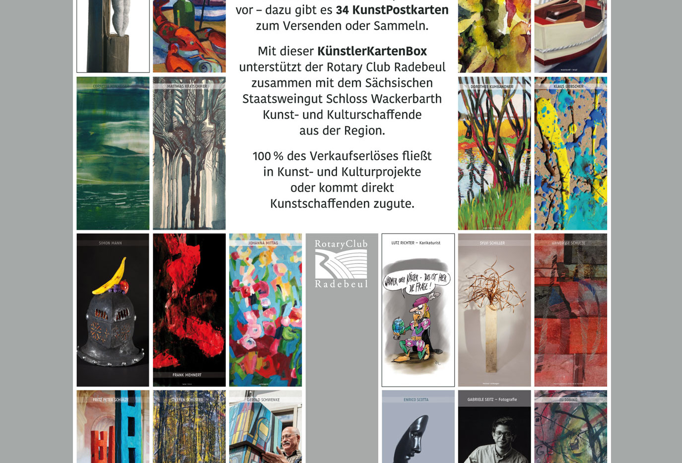 Übersicht der Künstler in KünstlerKartenBox