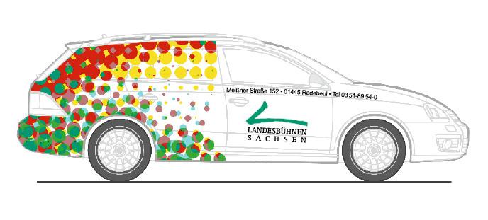 Entwurf für eine einheitliche Fahrzeugbeschriftung