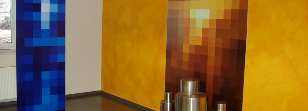 Firmenfoyer Installation im Foyer des Firmensitzes