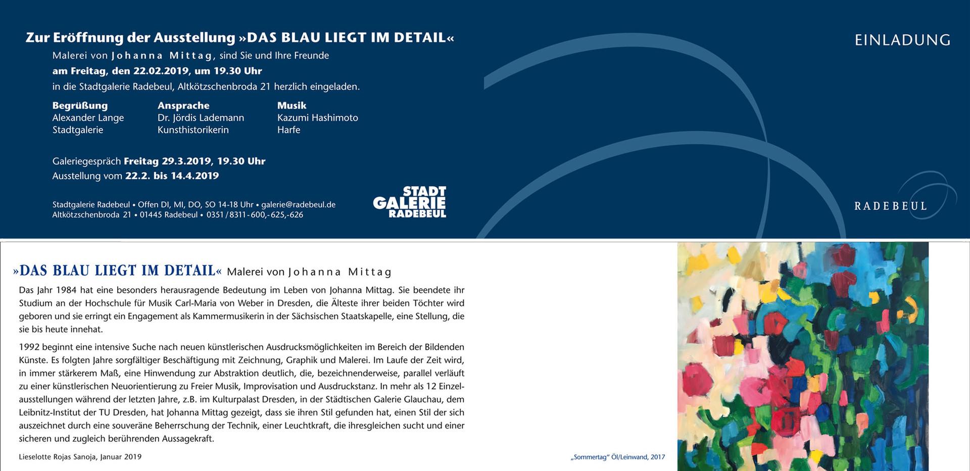 Faltkarte - Ausstellungseinladung