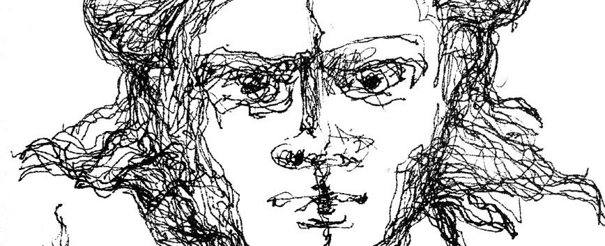 Federzeichnung Köpfe aus dem Kopf