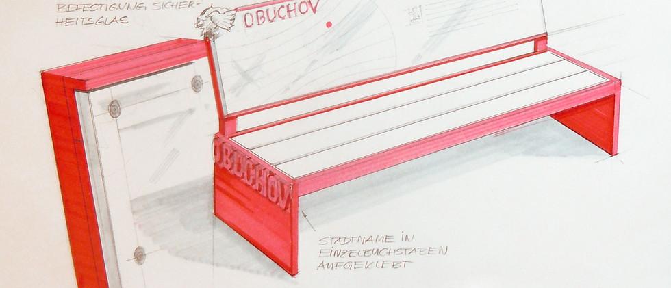Entwurfsskizze Grafische Darstellung einer Gestaltungsidee - Präsentation von Städtepartnerschaften