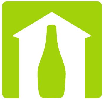 Pictogramm für eine Weinwanderkarte