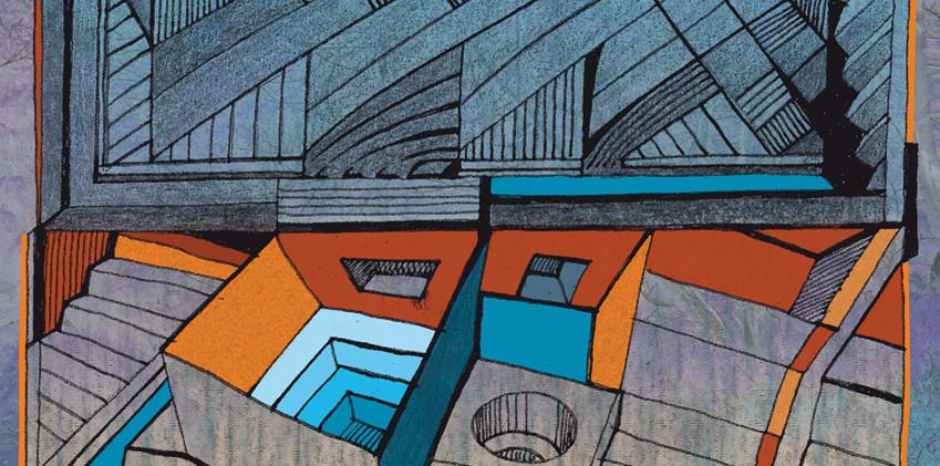 Digital-Collage An Escher gedacht