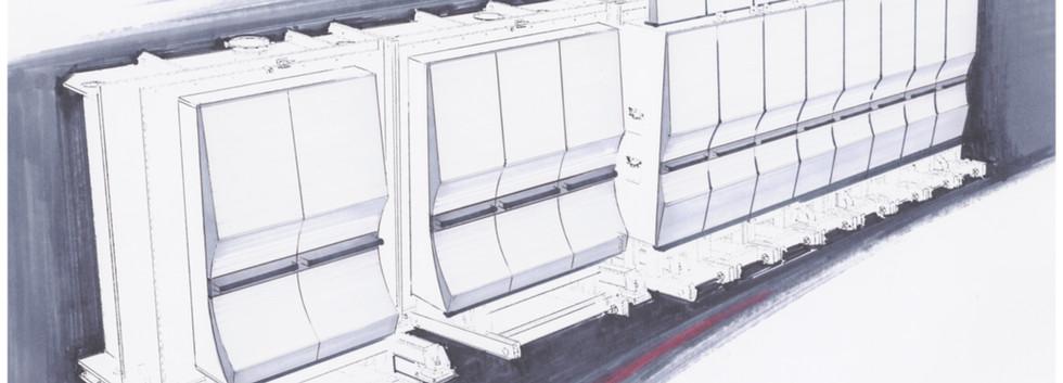 Vakuumbeschichtungsanlage Johanna Entwurfsskizze