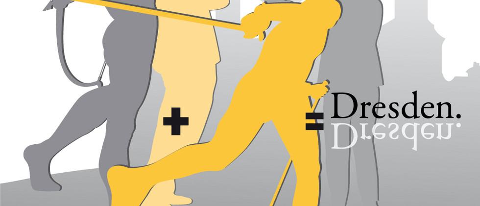 """Entwurf Taschenaufdruck Jährlicher Wettbewerb für die Gestaltung des """"student welcom packages"""" der TU Dresden"""