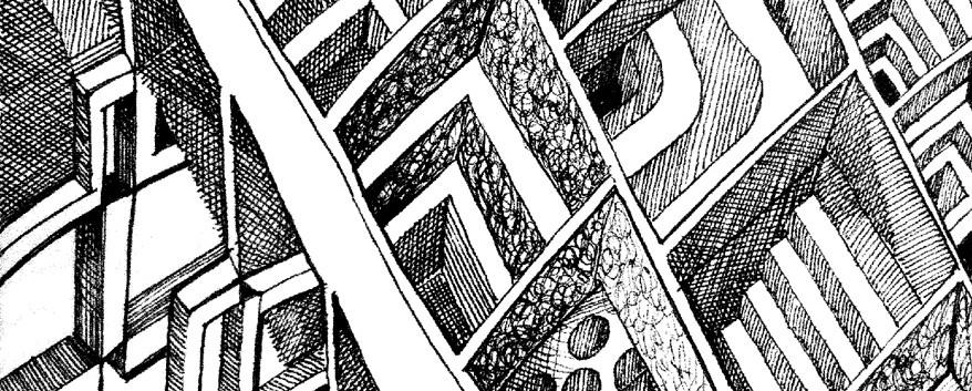 Federzeichnung An Escher gedacht
