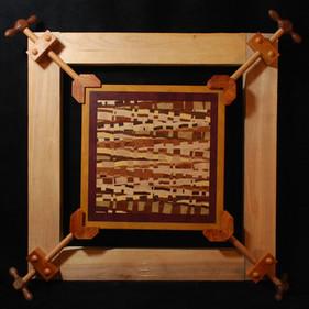 Wood Mosaic in Mechanical Frame 2014