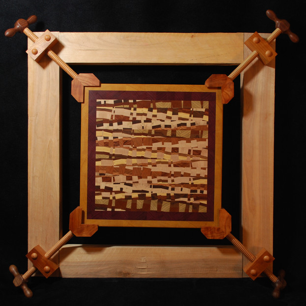 Wood Mosaic in Mechanical Frame 2014