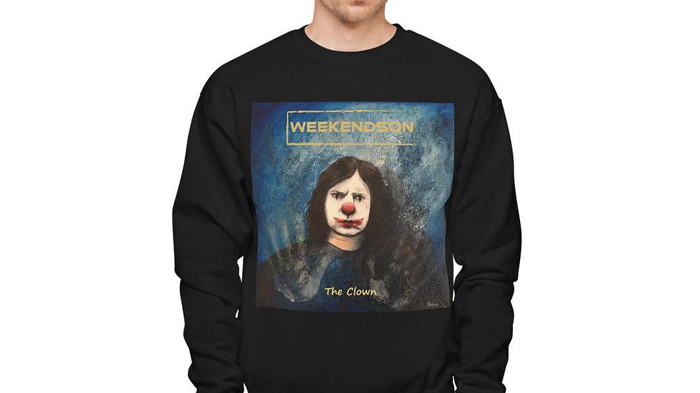 "Weekendson ""The Clown"" Unisex fleece sweatshirt"