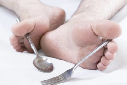 Eating with your feet?