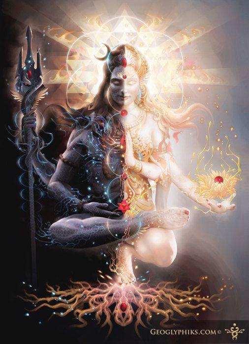 Unification de Shiva et Shakti, deux principes opposés réunit en un.