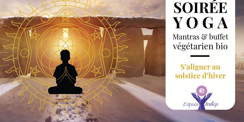 Soirée Solstice : Yoga, Mantras et Buffet végétarien